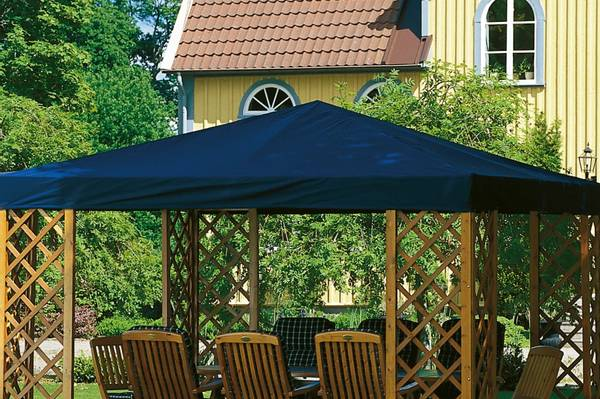 Bilde av De Luxe tak til 3,5 x 3,5 m paviljong - blå