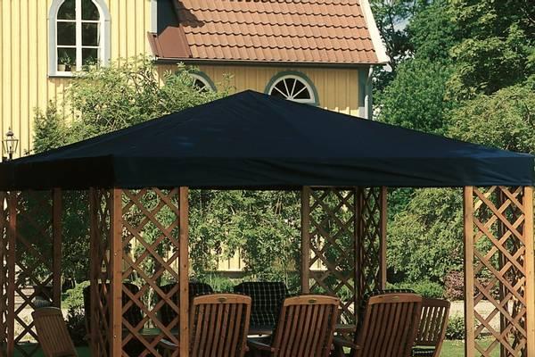 Bilde av De Luxe tak til 3,5 x 3,5 m paviljong - sort