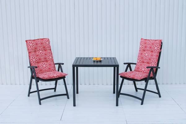 Bilde av Nardi Darsena sett 2 posisjonsstoler+Cube bord 80x80 cm - antrasittgrå