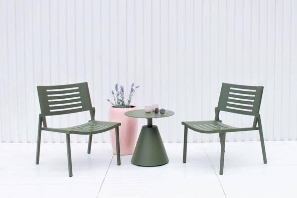 Bilde av Legato sett 2 stoler+bord - urbangrønn