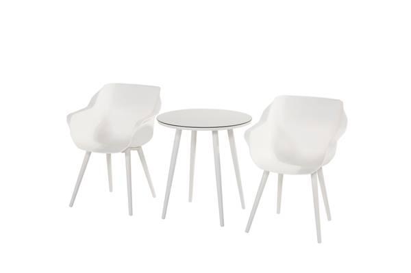 Bilde av Sophie Studio sett 2 stoler+bord Ø66 cm - hvit